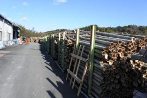 竹材置き場
